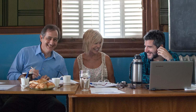 Ricardo Martínez Fuentes, Sara Diez y Rodrigo Magallanes