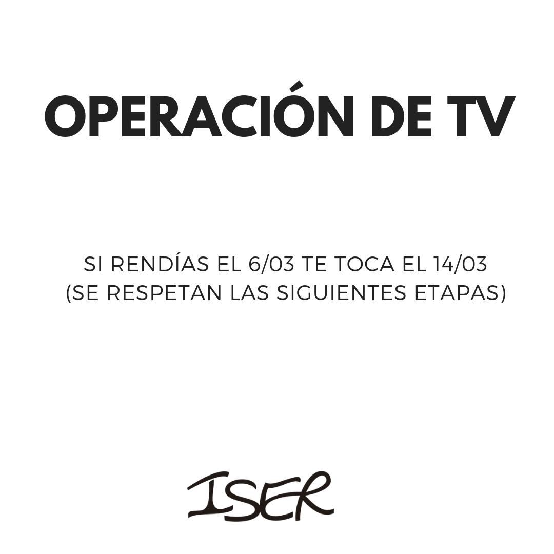Operación de TV